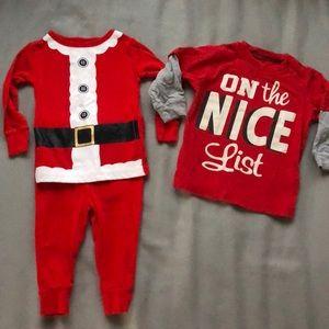 Other - Lot of 3 items, Christmas, pajama & longsleeve